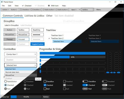 WPF theme Windows 10 dark and light theme