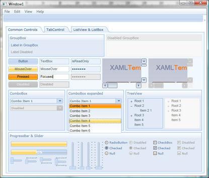 WPF/XAML Theme/Style/Template office blue