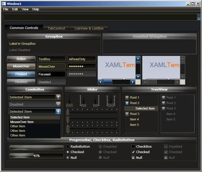 WPF/XAML theme/style/template metallic dark brown