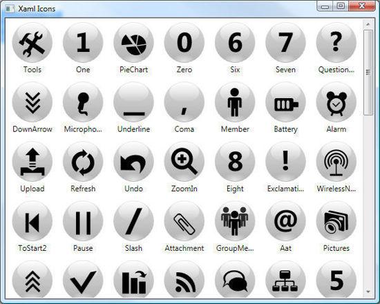 XAML Icons